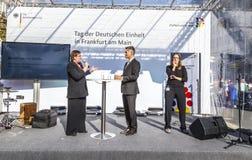 årsdag 25tg av tysk enhet i Frankfurt Fotografering för Bildbyråer