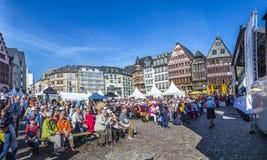 årsdag 25tg av tysk enhet i Frankfurt Royaltyfria Bilder