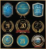 Årsdagguld och blåttetikettsamling, 20 år Royaltyfri Fotografi