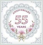 Årsdagkort 55 år Royaltyfri Foto