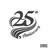 årsdaglogo för th 25 och symboldesign Royaltyfria Foton