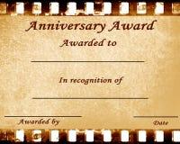 Årsdagutmärkelse Fotografering för Bildbyråer
