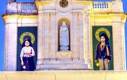 100. årsdagutseendebasilika av damen av radbandet Fatima Royaltyfria Foton