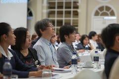 Årsmöte av det thailändska samhället för bioteknik Arkivfoto