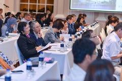 Årsmöte av det thailändska samhället för bioteknik Arkivfoton