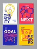 Årsrapport 2018, framtid, affär, mallorienteringsdesign, Co Royaltyfri Bild