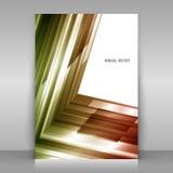 Årsrapportdesign royaltyfri illustrationer