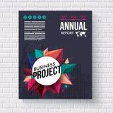 Årsrapportdesignmall för att bryta Arkivfoto