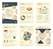Årsrapportmall Design för vektor för häfte för sidor för reklamblad för baner för presentation för rapportaffärsföretag royaltyfri illustrationer