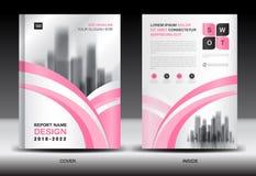 Årsrapporträkningsdesign, broschyrreklambladmall, affärsannonsering, företagsprofil royaltyfri illustrationer