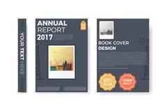 Årsrapportreklambladdesign Arkivfoto