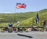 Åskådare av Le-Tour de France Fotografering för Bildbyråer