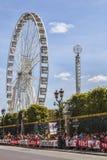 Åskådare av Le-Tour de France i Paris Arkivbilder
