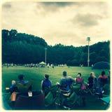 Åskådare på lacrossematchen Royaltyfria Bilder