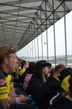 Åskådare på MotoGPen på Silverstone Royaltyfri Foto