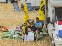 Åskådare - Tour de France 2015 Fotografering för Bildbyråer