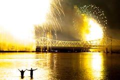 Åska över Louisville arkivbilder