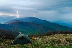 Åska i Tatras Royaltyfri Fotografi