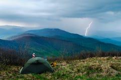 Åska i Tatras II Fotografering för Bildbyråer