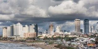 Åskväder i Tel Aviv Royaltyfri Bild