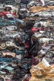 Återanvänd bilar Arkivfoto