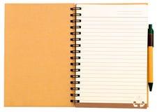 Återanvänd den pappers- anteckningsboken Fotografering för Bildbyråer