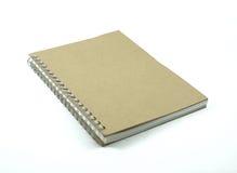Återanvänd den pappers- anteckningsboken Royaltyfria Foton
