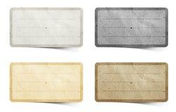 återanvänd etikett för hantverk papper Arkivbild