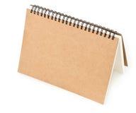 Återanvänd främre räkning för pappers- anteckningsbok Royaltyfri Foto