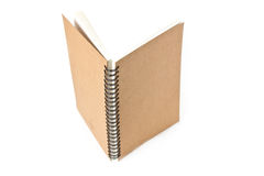 Återanvänd främre räkning för pappers- anteckningsbok Fotografering för Bildbyråer