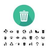 Återanvänd och miljösymbolen Royaltyfri Foto