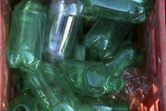 Återanvänd plastic flaskor Royaltyfri Bild