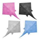 återanvänd stingray för origami papercraft stock illustrationer