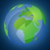 återanvänd symbolen på jorden Royaltyfri Fotografi
