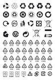 Återanvänd symboler Arkivbilder