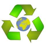 Återanvänd symbolet - logo Royaltyfri Bild