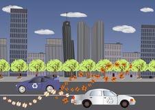 återanvända hjul stock illustrationer