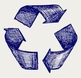 Återanvända symbolet stock illustrationer