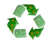 återanvänder den elektroniska logoen för begreppet avfalls Royaltyfria Bilder