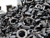 återanvändning av gummihjul Royaltyfri Foto