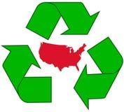 återanvändning av USA Arkivbild