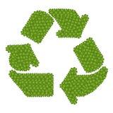 Återanvändningssymbolen som göras av kryddnejlikan för fyra Leaf Royaltyfri Foto