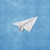 återanvänt flygplanpapper Royaltyfri Foto