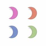 återanvänt moonpapper Arkivbilder