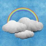 återanvänt väder för grunge papercraft Arkivfoto