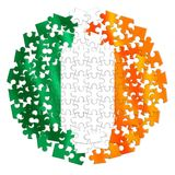 Återförening av Irland - begreppsbild i pusselform Arkivbild
