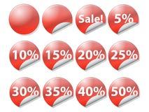 återförsäljnings- säljande etiketter Royaltyfri Foto