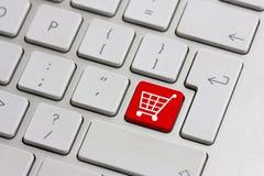återförsäljnings- shopping för knapp Royaltyfria Foton