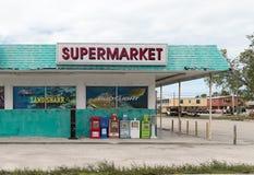 Återförsäljnings- supermarket i Florida royaltyfria bilder