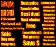 Återförsäljnings- text Arkivfoto